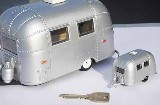 写真:トレーラーハウスのイメージ模型